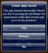 Crash data found