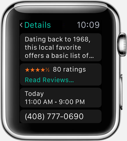 Where To? for Apple Watch: place details (2)