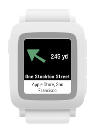 Where To? on Pebble Time