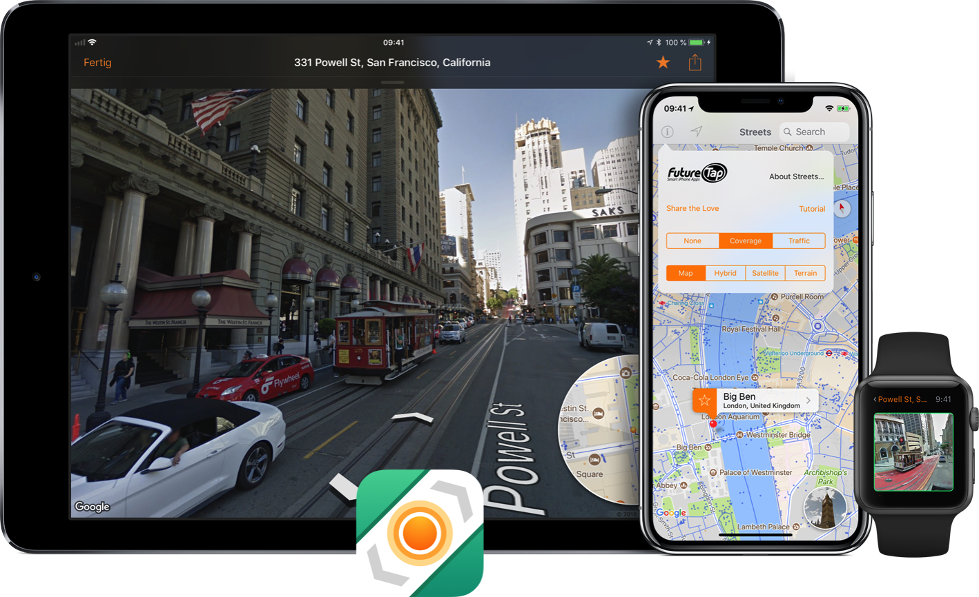 Streets 4.0: Street View App Adds Drag and Drop and Live Panorama Mode Image
