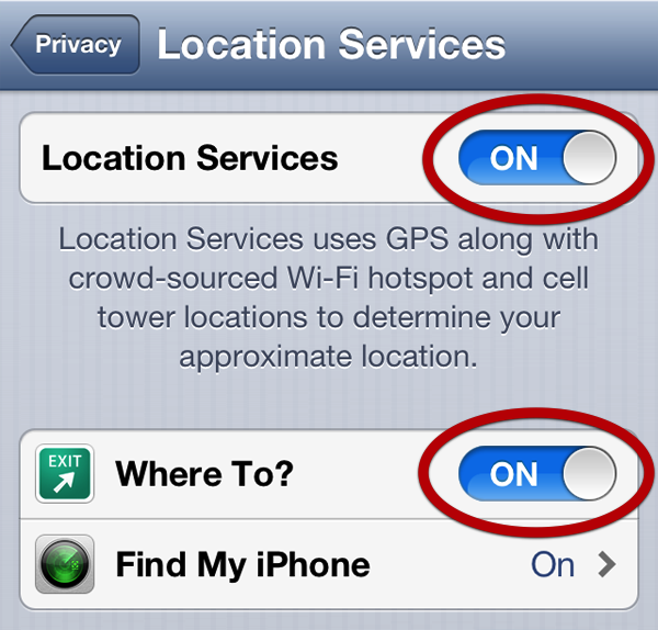 Enable Location Services