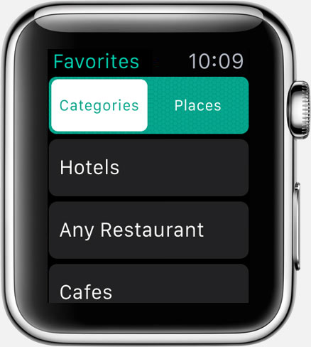 Where To? for Apple Watch: favorite categories