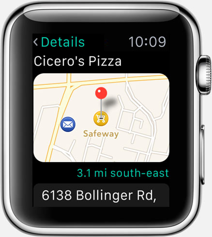 Where To? for Apple Watch: place details