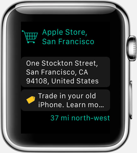 Where To? for Apple Watch: Glance