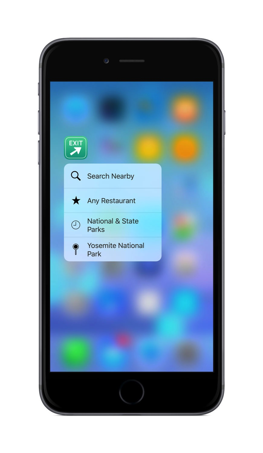 3D Touch shortcuts in Where To?
